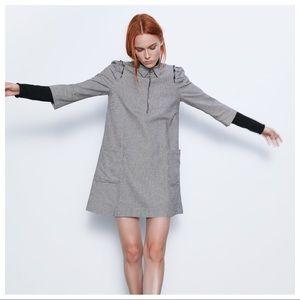 NWOT. Zara Houndstooth Mini Dress. Size L, XL.